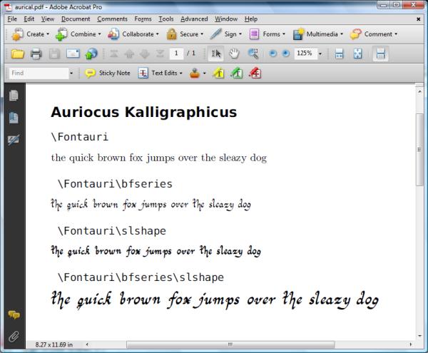 auriocuskalligraphicus